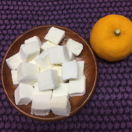 A bowl of yuzu marshmallows